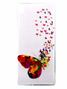 For Sony Case / Xperia XA Ultra-thin / Pattern Case Back Cover Case Butterfly Soft TPU for Sony Sony Xperia XA / Sony Xperia E5