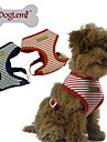Dog Harness Adjustable/Retractable Stripe Red / Blue Fabric