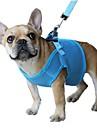 Gatos / Caes Arreios / Trelas Retratavel / Respiravel / Seguranca Solido Vermelho / Preto / Azul / Rosa / Purpura Com Transparencia