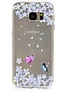 Para Transparente / Estampada Capinha Capa Traseira Capinha Mulher Sensual Macia TPU Samsung S7 edge / S7 / S5 Mini / S5