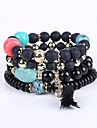 European And American Fashion Popular Hand On The Small Leaf All-Match Multilayer Handmade Beaded Stretch Bracelet Multi Bracelet