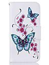 Pour Portefeuille Porte Carte Avec Support Motif Coque Coque Integrale Coque Papillon Dur Cuir PU pour Samsung S7 edge S7 S6 edge S6 S5