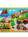 Puzzles Jouet Educatif / Puzzle Building Blocks DIY Toys Traine / Automatique / Caleche / Moto / Bus / Camion 8 Bois Arc-en-ciel Loisirs