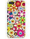 Pour Coque iPhone 7 Coque iPhone 6 Coque iPhone 5 Motif Coque Coque Arriere Coque Fleur Flexible PUT pour AppleiPhone 7 Plus iPhone 7