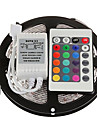 Z®ZDM 5M 300X3528 SMD RGB LED Strip Light with 24Key Remote Controller (DC12V)