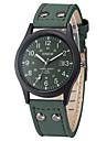 Мужской Спортивные часы Армейские часы Модные часы Наручные часы Календарь Кварцевый Кожа Группа Винтаж Cool ПовседневнаяЧерный