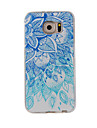 For Samsung Galaxy S7Edge S7 S6Edge S6 S5 S4 Case Cover Blue and White Painted Pattern TPU Material Phone Case