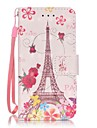 Butterfly Tower 3D Painting PU Phone Case for apple iTouch 5 6