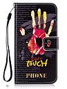 Назначение Чехлы панели Кошелек Бумажник для карт со стендом Чехол Кейс для Слова / выражения Твердый Искусственная кожа для SamsungJ7