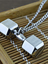 Men\'s Pendant Necklaces Dumbbell Titanium Steel Dangling Style USA Costume Jewelry Jewelry For Party Daily Casual