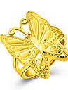 Кольцо Классические кольца Золотистый 18K золото В форме животных Бабочка Золотой Бижутерия Для Для вечеринок День рождения Повседневные