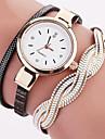 Femme Montre Tendance Montre Bracelet Bracelet de Montre Quartz Colore Polyurethane Banderetro Pois Boheme Charme Bracelet Cool Pour tous