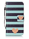 For Samsung Galaxy S3 S4 Case Cover Striped Love Pattern Painting Card Stent PU Leather