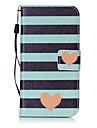 Pour samsung galaxy s3 s4 carton couverture rayee modele d\'amour peinture carte stent pu cuir