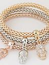 Femme Charmes pour Bracelets Strass Imitation de diamant Alliage Simple Style Mode Forme de Tete de Mort Arc-en-ciel Bijoux 1set