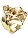 Массивные кольца Цирконий Циркон Цирконий Медь Платиновое покрытие Позолота Заявление ювелирные изделия Мода Золотой Белый Бижутерия
