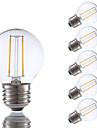 2W E26/E27 LED лампы накаливания G16.5 2 COB 200 lm Тёплый белый Регулируемая V 6 шт.