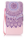 For Samsung Galaxy S3 S4 Case Cover Lotus Pattern Painting Card Stent PU Leather