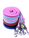 Dog Leash Waterproof Casual Solid Red Black Green Blue Brown Pink Yellow Purple Silver Rose PU Leather