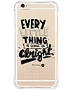 Shockproof Word Phrase TPU Soft Case Cover For iPhone 6s Plus 6 Plus iPhone 6s 6 iPhone SE 5s 5