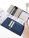 1 Pca. Capanga Porta-Documento Prova de Agua A Prova-de-Po Portatil para Organizadores para Viagem Couro Ecologico-Laranja Azul Escuro