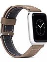 Bague de montre pour Apple Watch 38mm Bracelet de remplacement en cuir veritable en cuir veritable de 42mm