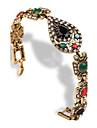 Женский Браслет цельное кольцо Драгоценный камень Имитация Алмазный Сплав Винтаж В форме сердца Свисающие Черный Бижутерия 1шт
