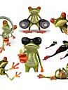 ziqiao ras 3d etiqueta do carro a prova de agua automoveis engracado gecko&motocicletas em vinil autocolante