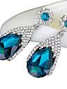 Серьги-слезки Сапфир Хрусталь Имитация Алмазный Pоскошные ювелирные изделия Свисающие Тёмно-синий БижутерияСвадьба Для вечеринок