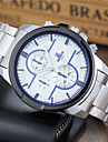Men\'s Sport Watch Dress Watch Fashion Watch Wrist watch Quartz Stainless Steel Band Casual White
