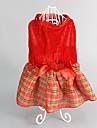 Собаки Платья Одежда для собак Зима Лето В клетку Милые Мода Сохраняет тепло Рождество