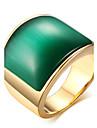 Кольца Повседневные Бижутерия Титановая сталь Стекло Мужчины Массивные кольца Кольцо 1шт,8 9 10 11 Кофейный Зеленый