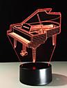 Новинка 3d piano usb night light lamp gadgets 7 изменение цвета home beddside lampara для ребенка новый год подарок дистанционное