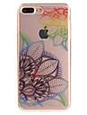 Pour IMD Transparente Motif Coque Coque Arriere Coque Fleur Flexible PUT pour AppleiPhone 7 Plus iPhone 7 iPhone 6s Plus/6 Plus iPhone