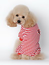 Dog Pajamas Dog Clothes Winter Spring/Fall Stripe Casual/Daily Black Red Blue