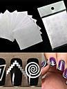 12 Autocollant d\'art de clou Manucure Pochoir Maquillage cosmetique Nail Art Design