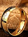 Кольца Бижутерия Нержавеющая сталь Мужчины Классические кольца Золотой