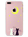 Pour Motif Coque Coque Arriere Coque Chat Flexible PUT pour Apple iPhone 7 Plus iPhone 7 iPhone 6s Plus/6 Plus iPhone 6s/6 iPhone SE/5s/5
