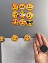 2 шт милый круглый магнит игрушка мультфильм улыбка смайликов лицо холодильник наклейки холодильник случайное Emoji
