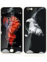 6s apple iphone plus / 6plus 5,5 pouces en verre trempe avec protecteur bord doux de l\'ecran avant de la couverture complete de l\'ecran et