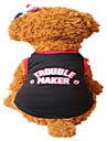 Holdhoney Dog Vest Black /Red  Dog Clothes Summer Letter  Fashion #LT15050285