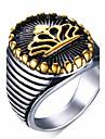 남성용 문자 반지 새해 맞이 의상 보석 스테인레스 보석류 제품 파티 일상 캐쥬얼