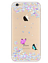 Pour Ultrafine Motif Coque Coque Arriere Coque Papillon Flexible PUT pour Apple iPhone 7 Plus iPhone 7 iPhone 6s Plus/6 Plus iPhone 6s/6
