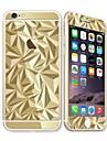 para Apple iPhone 6s / 6 4.7 protetor de tela protetor de tela frontal e do protetor de volta galvanoplastia padrao geometrico