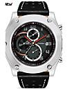 SINOBI Men\'s Sport Watch Wrist watch Quartz Calendar Water Resistant / Water Proof Stopwatch Shock Resistant Leather Band Casual Cool Luxury