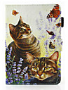 For iPad Air Air 2 Shockproof  Magnetic Case Full Body Case Cat Hard PU Leather