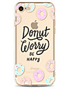 Para Estampada Capinha Capa Traseira Capinha Palavra / Frase Macia TPU para Apple iPhone 7 Plus iPhone 7 iPhone 6s Plus/6 Plus iPhone 6s/6
