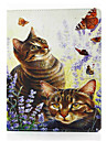 For iPad 4/3/2 Shockproof  Magnetic Case Full Body Case Cat Hard PU Leather