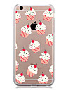 Para Estampada Capinha Capa Traseira Capinha Azulejos Macia TPU para AppleiPhone 7 Plus iPhone 7 iPhone 6s Plus/6 Plus iPhone 6s/6 iPhone