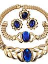Jewelry Set Ring Necklace/Bracelet Crystal Circular Unique Design Rhinestones Geometric Floral Fashion Personalized Euramerican Costume
